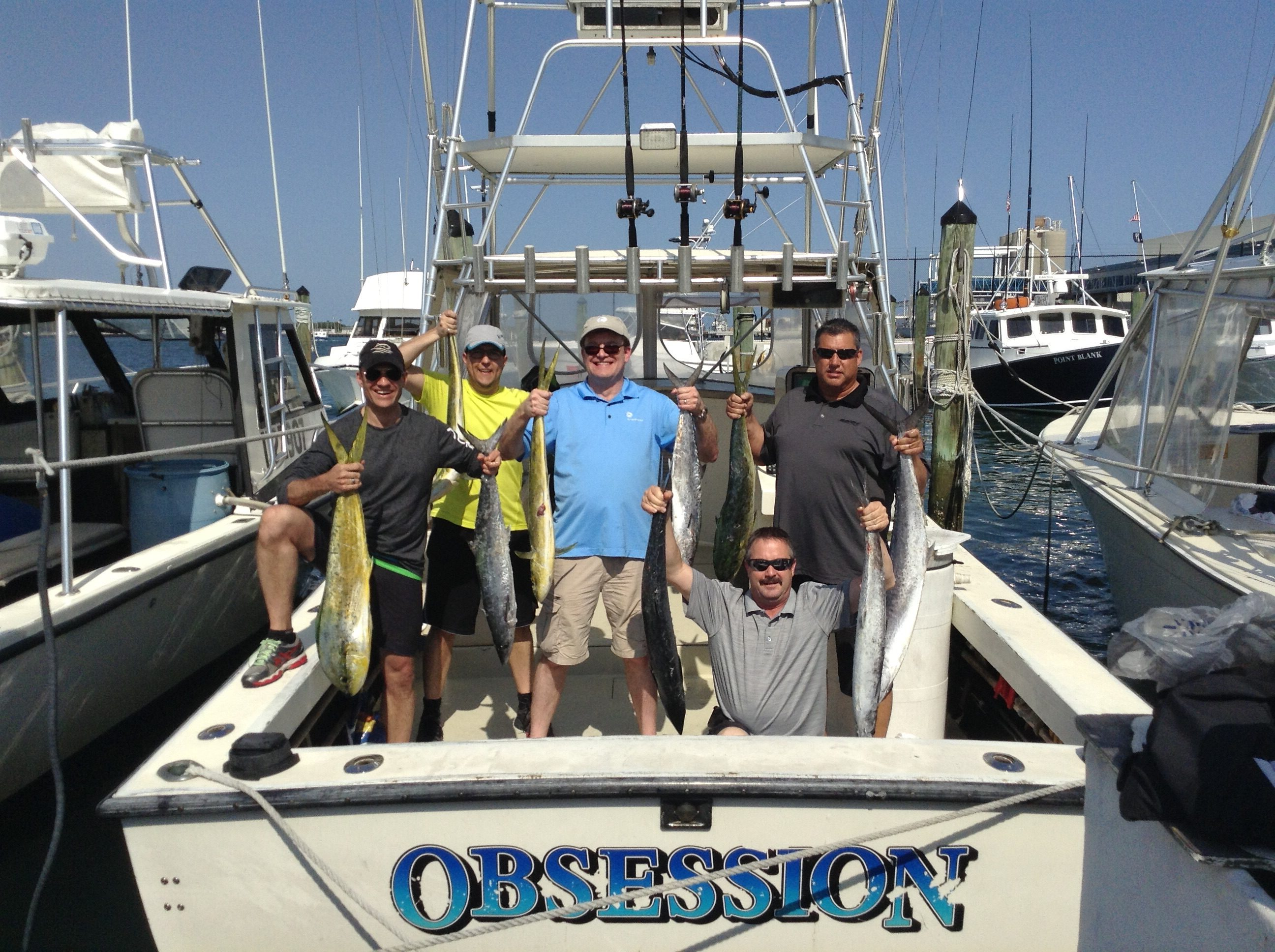 5 Boat Large Party Charter Fishing